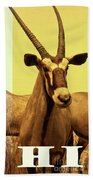 Antelopes Bath Towel