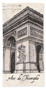 Arc De Triomphe Bath Towel by Debbie DeWitt