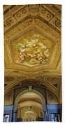 Architectural Artistry Within The Vatican Museum In The Vatican City Bath Towel