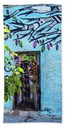 Athens Graffiti Bath Towel