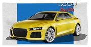 Audi Sport Quattro Concept With 3 D Badge  Bath Towel