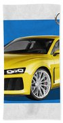 Audi Sport Quattro Concept With 3 D Badge  Bath Towel