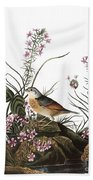 Audubon: Sparrow, (1827-38) Bath Towel