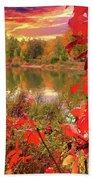 Autumn Garlands Bath Towel