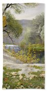 Autumn Landscape In The Vicinity Of Eshar Bath Towel