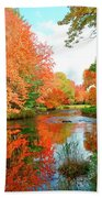 Autumn On The Mersey River, Kejimkujik National Park, Nova Scotia, Canada Bath Towel