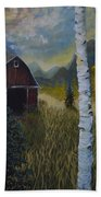 Autumn Red Barn  Hand Towel