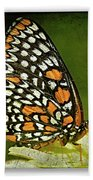 Baltimore Checkerspot Bath Towel
