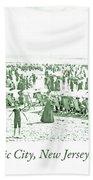Beach, Bathers, Ocean, Atlantic City, New Jersey, 1902 Bath Towel