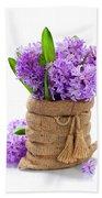 Beautiful Hyacinths Bath Towel