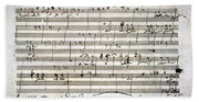 Beethoven Manuscript Bath Towel