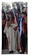 Bethlehemites In Traditional Dress Bath Towel