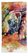 Big Colorful Elephant Bath Towel