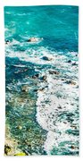 Big Sur California Coastline On Pacific Ocean Bath Towel