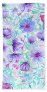 Bird And Flowers Bath Towel