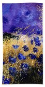 Blue Cornflowers Bath Towel