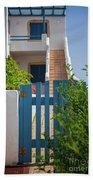 Blue Gate In Greece Bath Towel