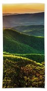 Blue Ridge Sunset Bath Towel