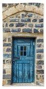 Blue Traditional Door Bath Towel