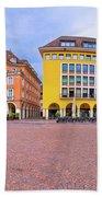 Bolzano Main Square Waltherplatz Panoramic View Bath Towel