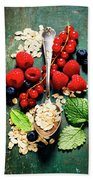 Breakfast With Oats And Berries Bath Towel