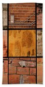 Bricks Collage  Bath Towel