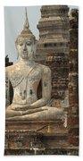 Buddha At Sukhothai Bath Towel