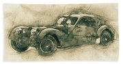 Bugatti Type 57 - Atlantic 3 - 1934 - Automotive Art - Car Posters Hand Towel