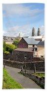 Buildings In A Town, Mullingar, County Bath Towel