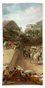 Bullfight In A Divided Ring Bath Towel