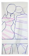 Bus Stop Blues Bath Towel
