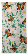 Butterflies And Daisies - 1 Bath Towel