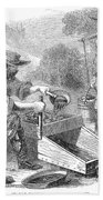 California Gold Rush, 1860 Bath Towel