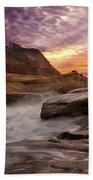 Cape Kiwanda Sunset Bath Towel
