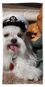 Captain Maltese Dog  Bath Towel