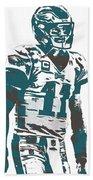 Carson Wentz Philadelphia Eagles Pixel Art 6 Bath Towel