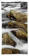 Cascading Water And Rocky Mountain Rocks Hand Towel