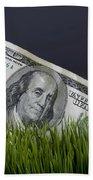 Cash In The Grass. Bath Towel