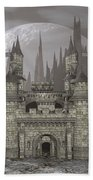 Castle By Night - 3d Render Hand Towel