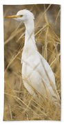Cattle Egret Hand Towel