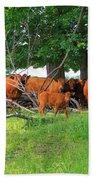 Cattle Herd Bath Towel