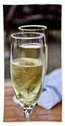 Champagne Glasses Bath Towel