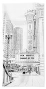Chicago Theater Marquee Bath Towel