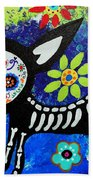 Chihuahua Day Of The Dead Bath Towel