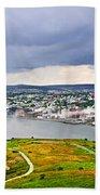 Cityscape Of Saint John's From Signal Hill Bath Towel