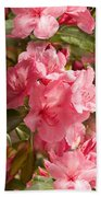 Close-up Of Pink Flowers In Bloom Bath Towel