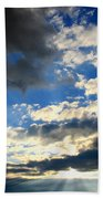 Clouded Sun Rays Bath Towel