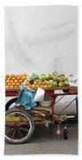 Colombia Fruit Cart Bath Towel