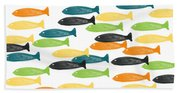 Colorful Fish  Hand Towel