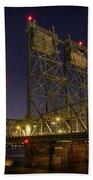 Columbia Crossing I-5 Interstate Bridge At Night Hand Towel